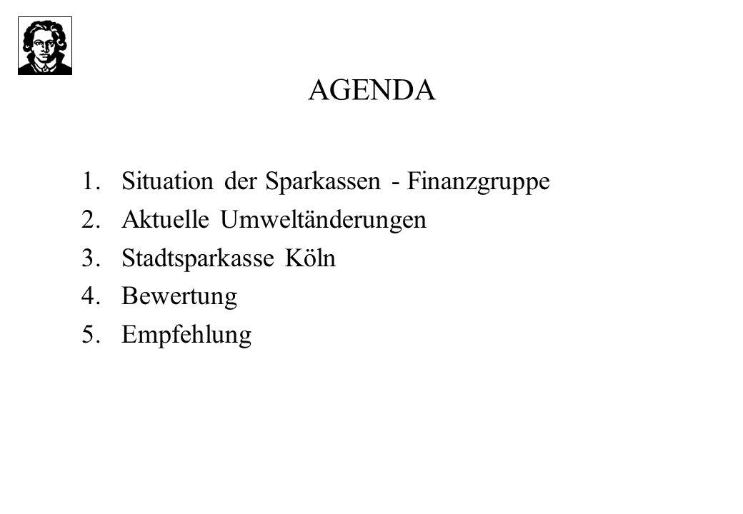 AGENDA Situation der Sparkassen - Finanzgruppe