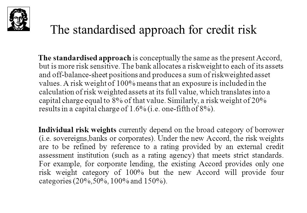 The standardised approach for credit risk