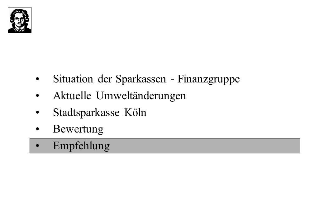 Situation der Sparkassen - Finanzgruppe