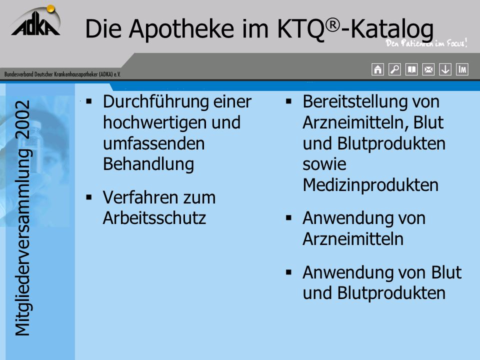 Die Apotheke im KTQ®-Katalog