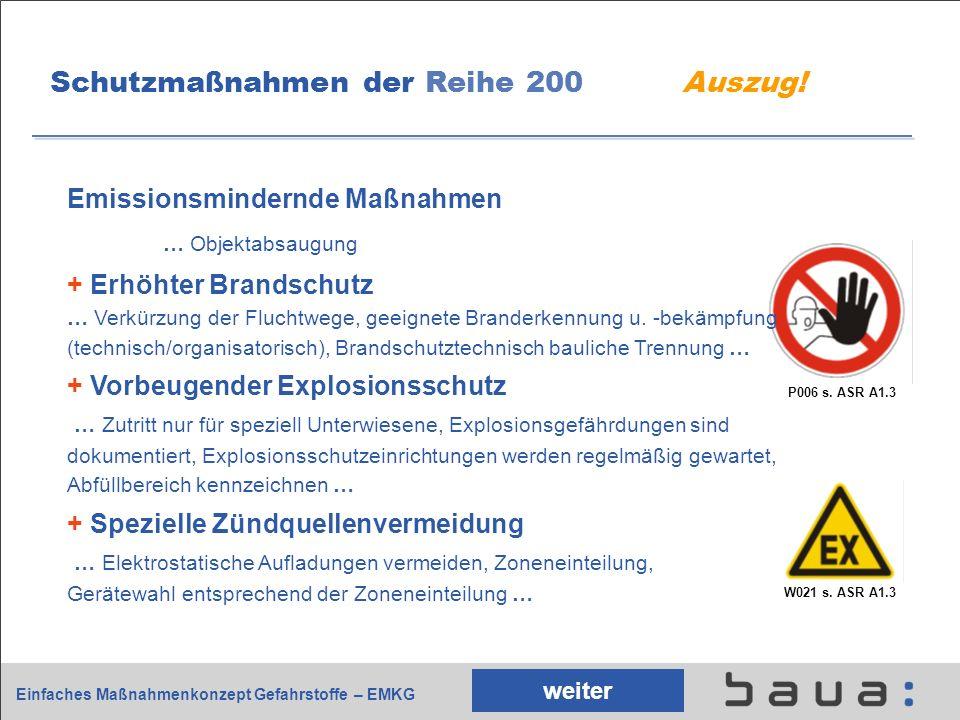 Schutzmaßnahmen der Reihe 200 Auszug!