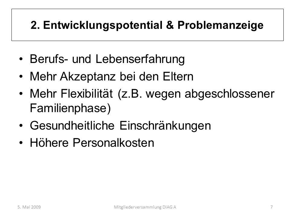 2. Entwicklungspotential & Problemanzeige
