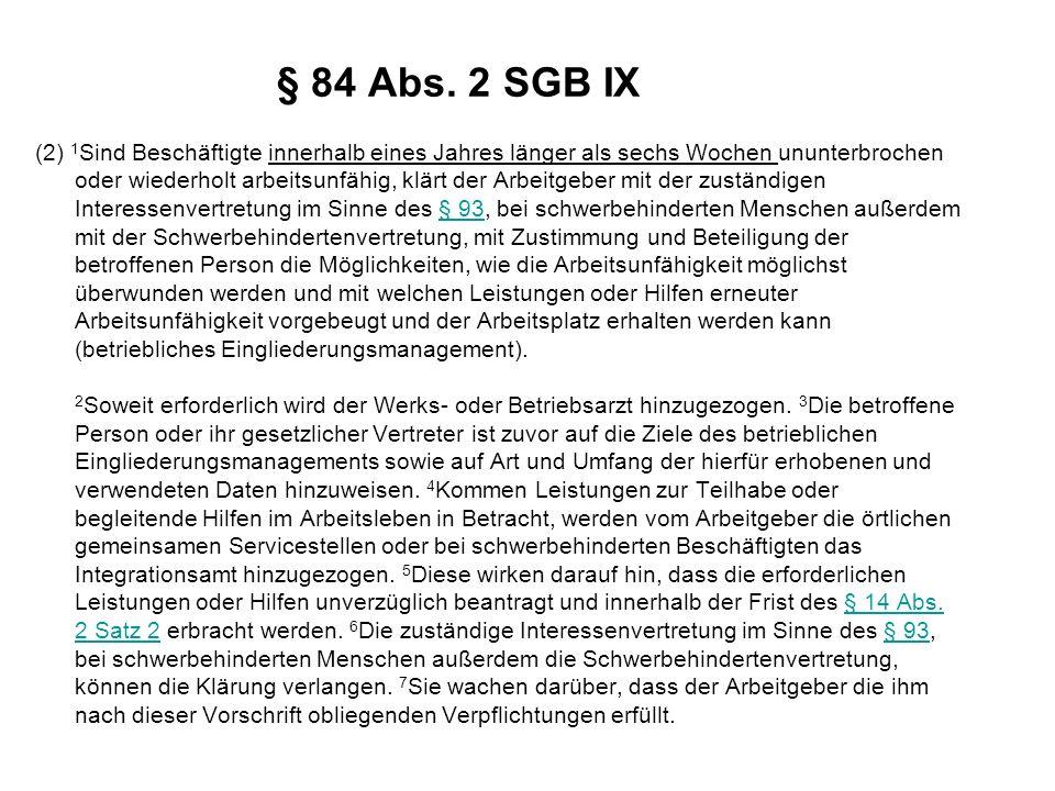 § 84 Abs. 2 SGB IX