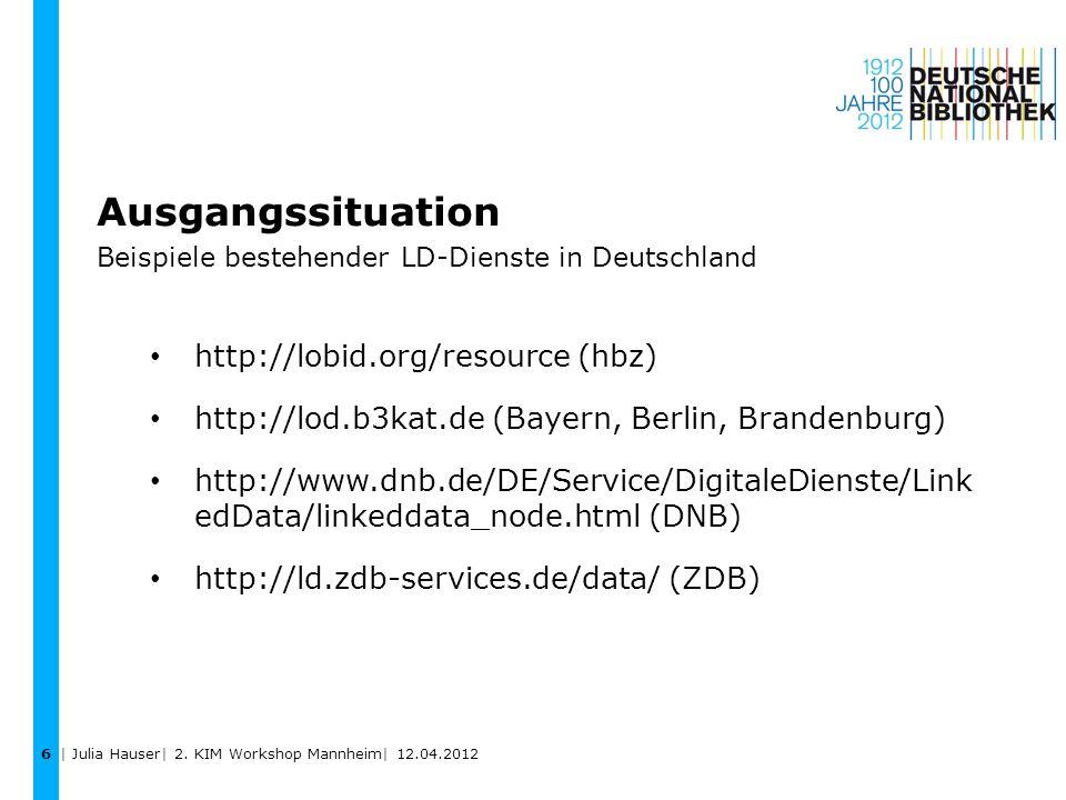 Ausgangssituation Beispiele bestehender LD-Dienste in Deutschland