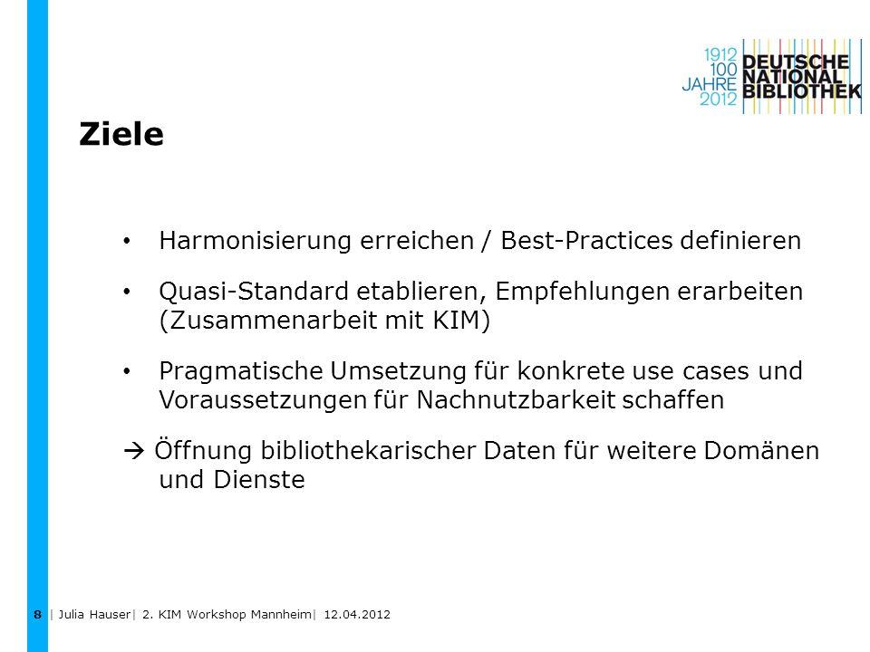 Ziele Harmonisierung erreichen / Best-Practices definieren