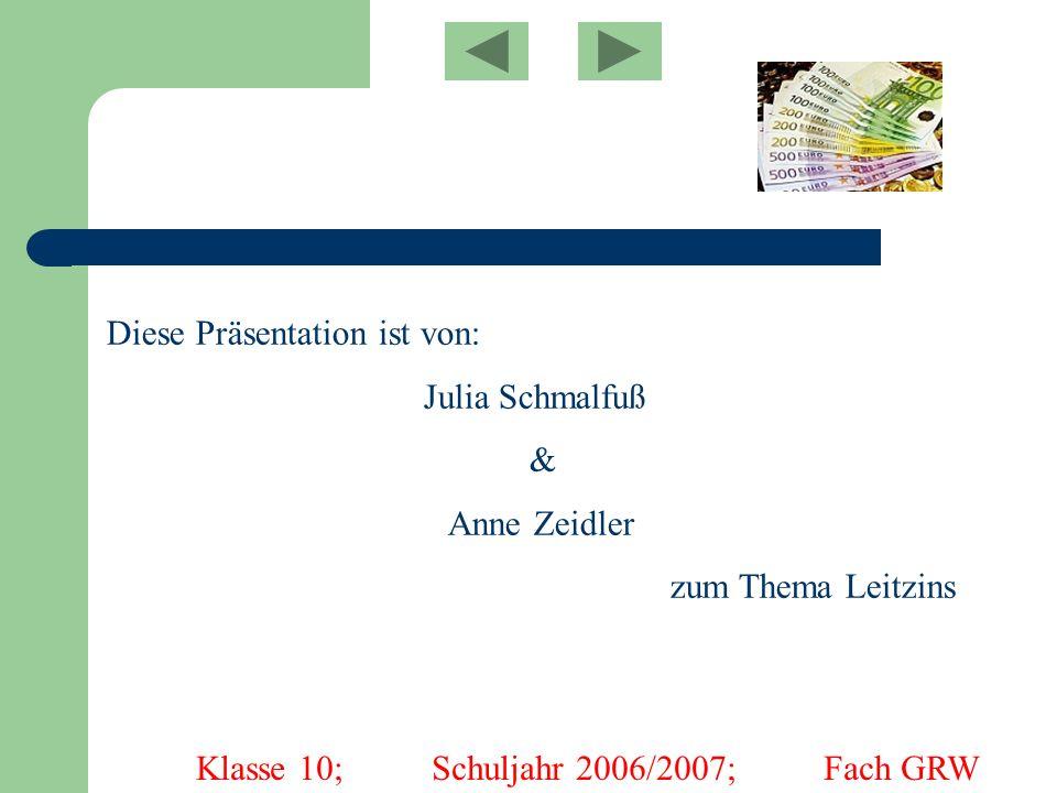 Klasse 10; Schuljahr 2006/2007; Fach GRW