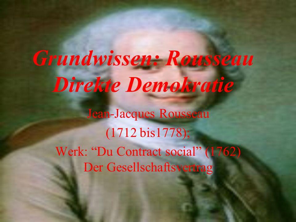 Grundwissen: Rousseau Direkte Demokratie