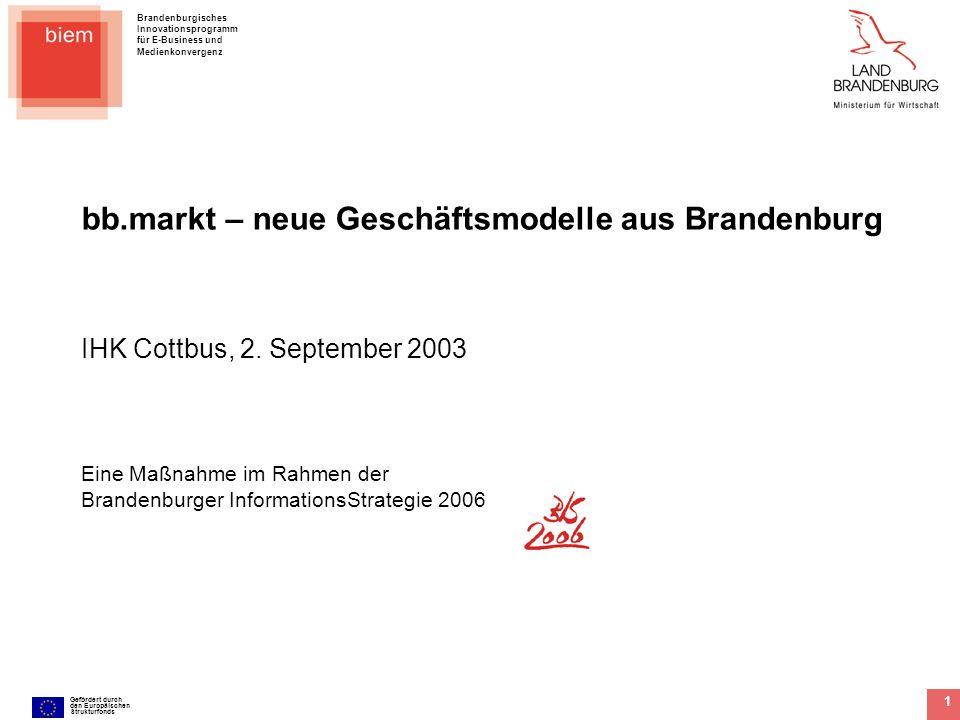 bb.markt – neue Geschäftsmodelle aus Brandenburg