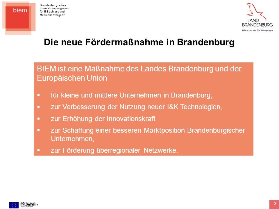 Die neue Fördermaßnahme in Brandenburg