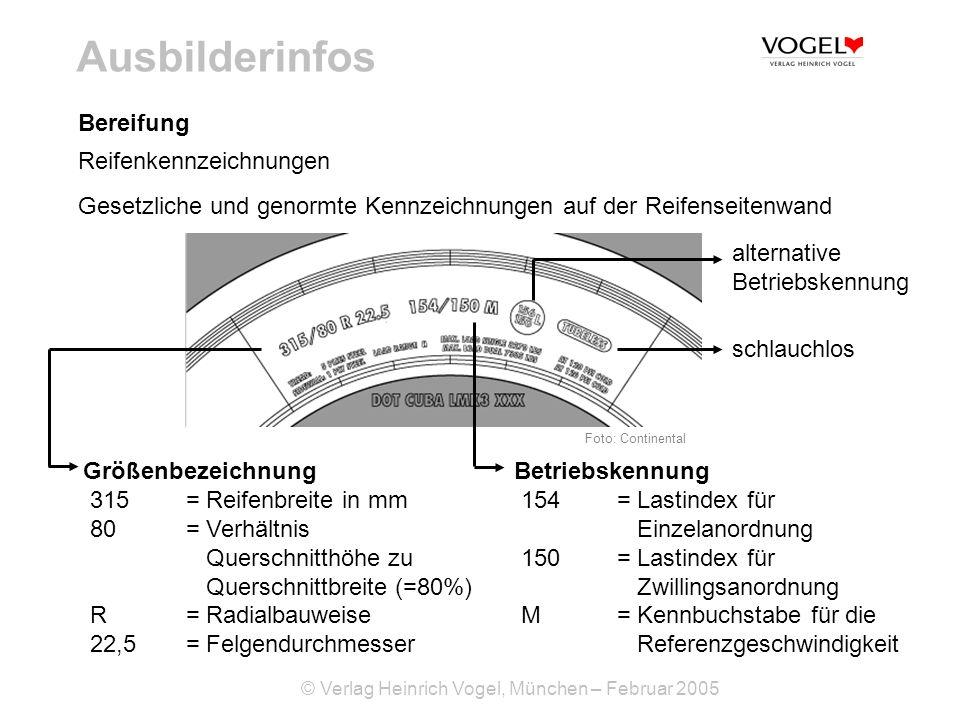 Ausbilderinfos Bereifung Reifenkennzeichnungen