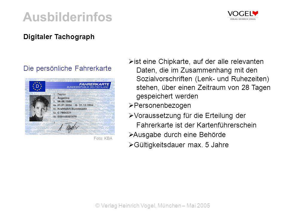 Ausbilderinfos Digitaler Tachograph