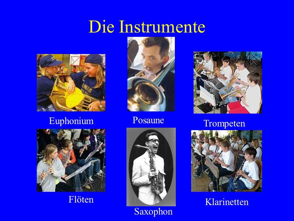 Die Instrumente Euphonium Posaune Trompeten Flöten Klarinetten
