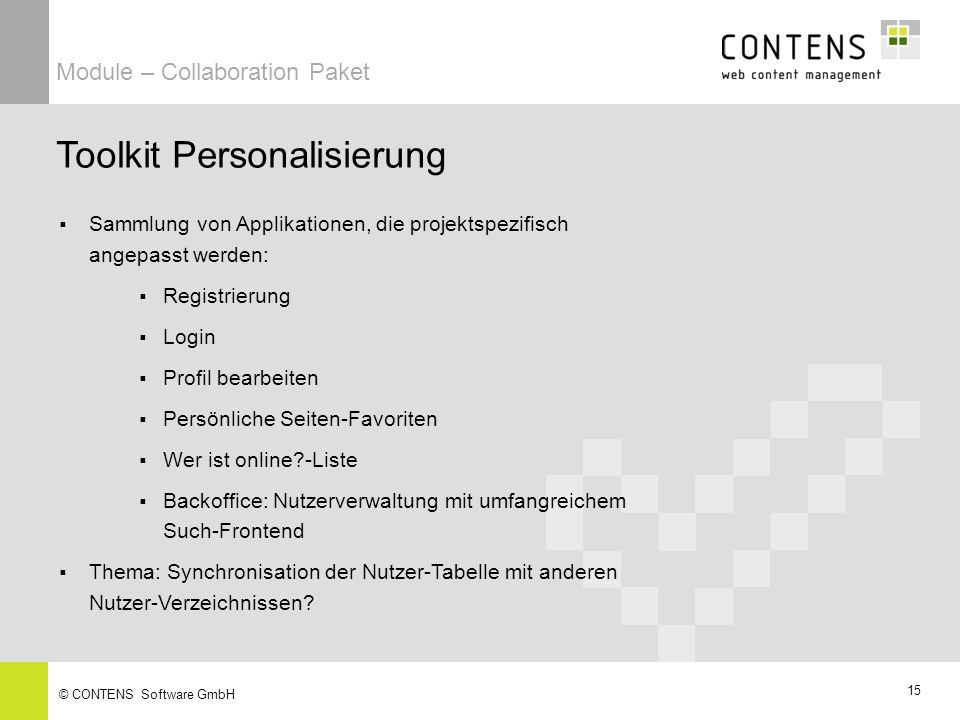 Toolkit Personalisierung