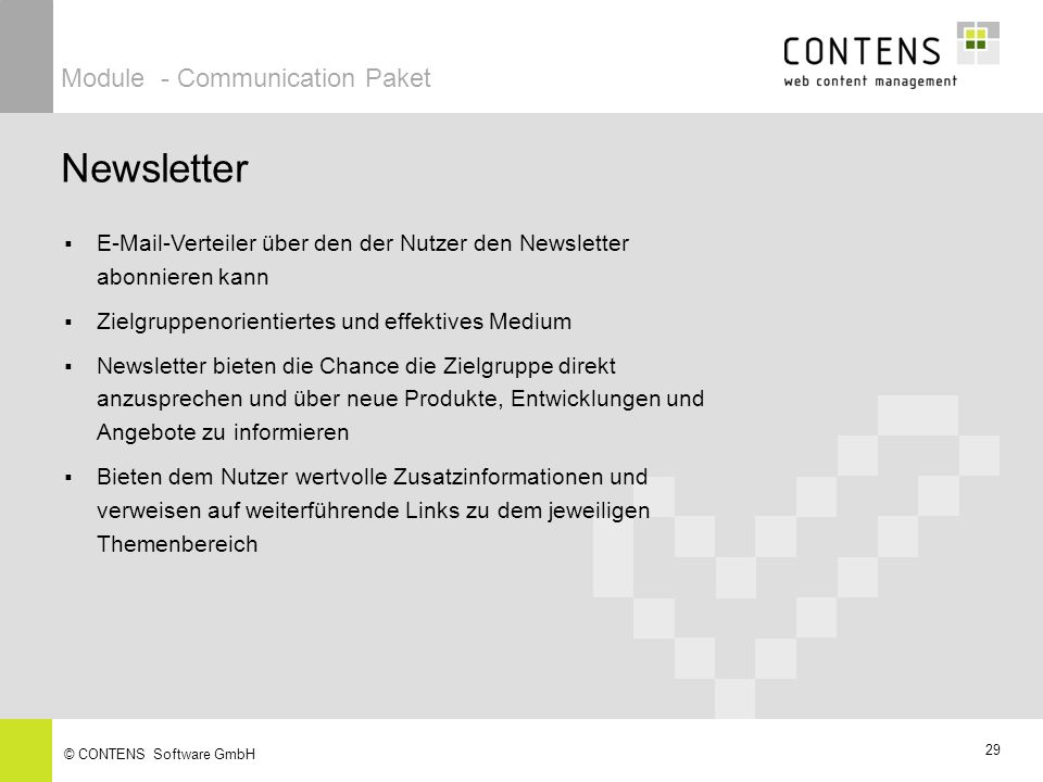 Newsletter Module - Communication Paket