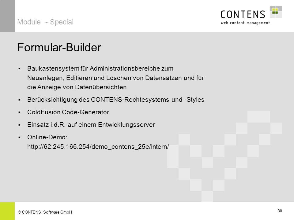 Formular-Builder Module - Special