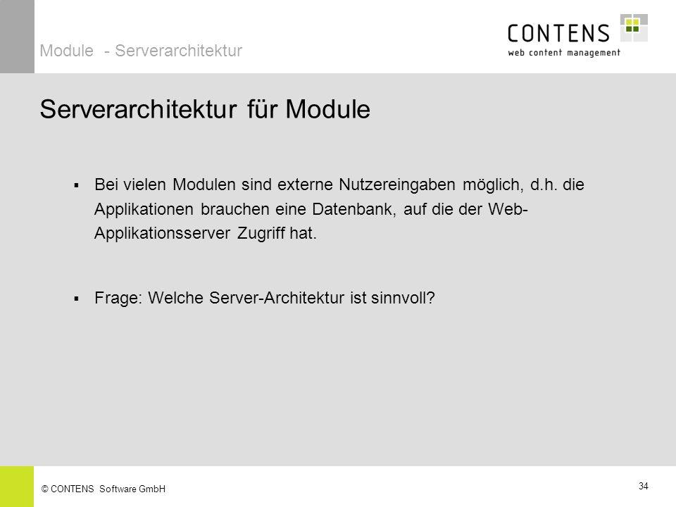 Serverarchitektur für Module