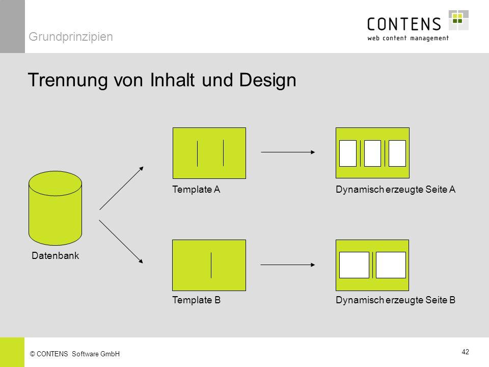Trennung von Inhalt und Design
