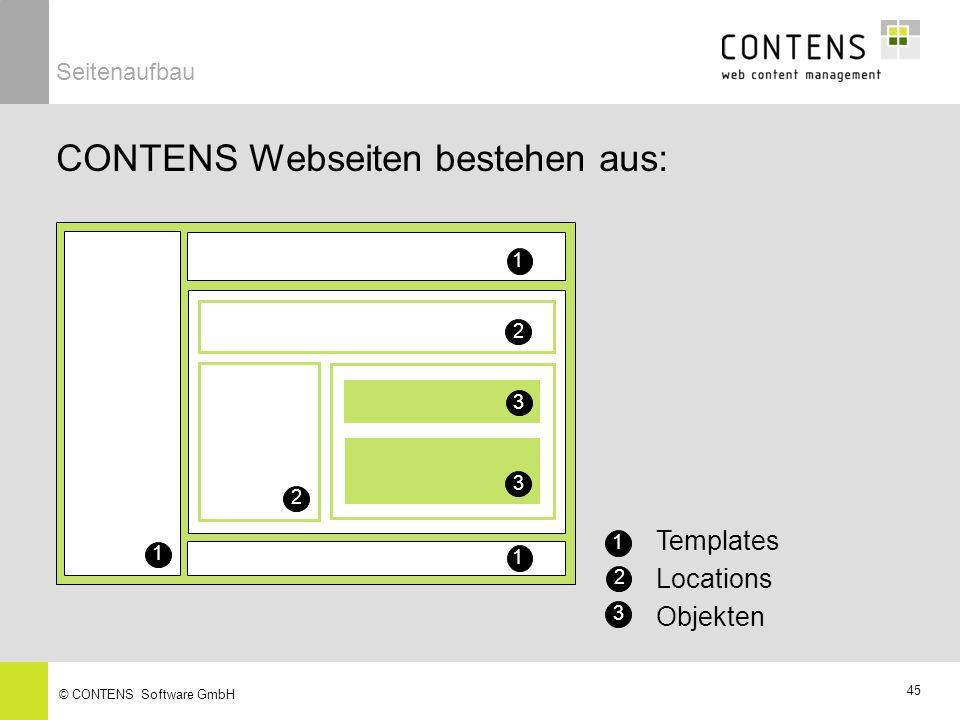 CONTENS Webseiten bestehen aus: