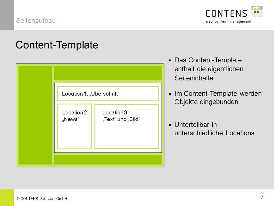 Content-Template Seitenaufbau