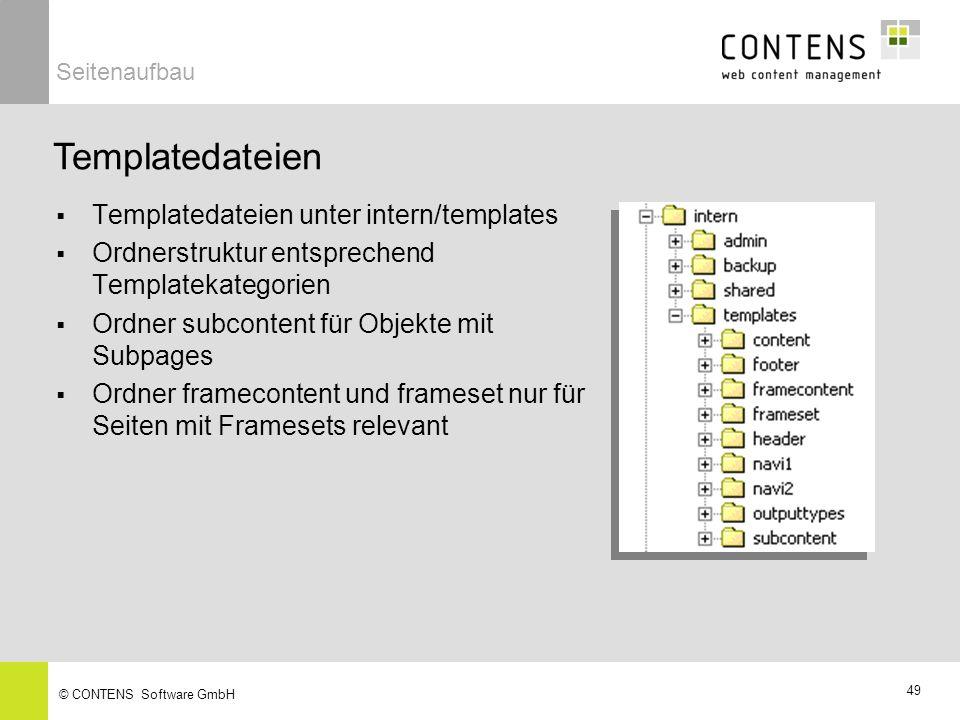 Templatedateien Templatedateien unter intern/templates