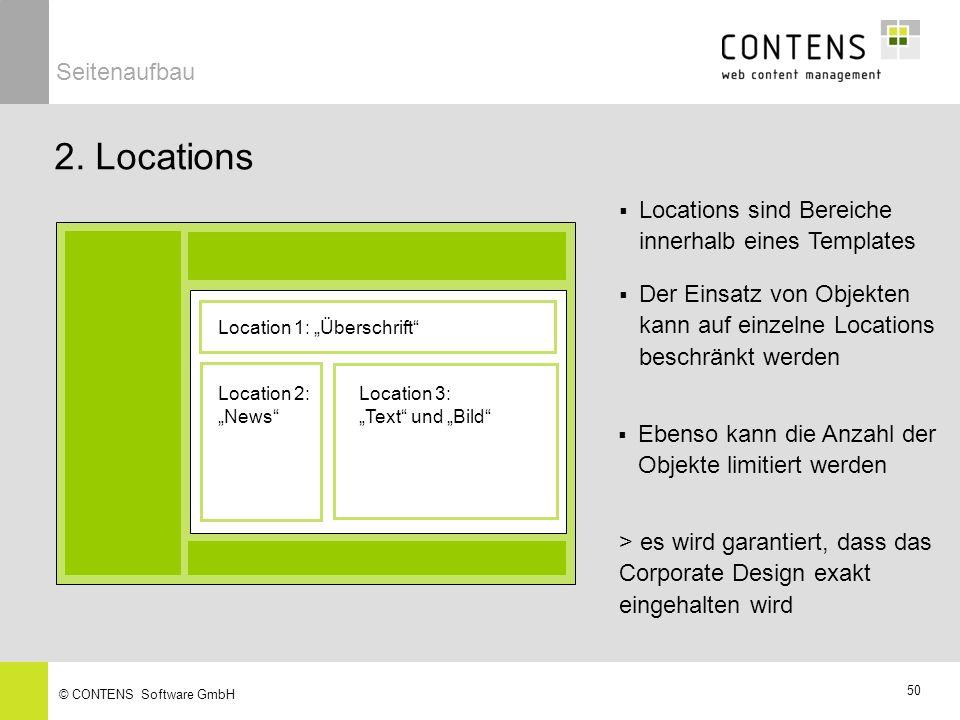 2. Locations Seitenaufbau