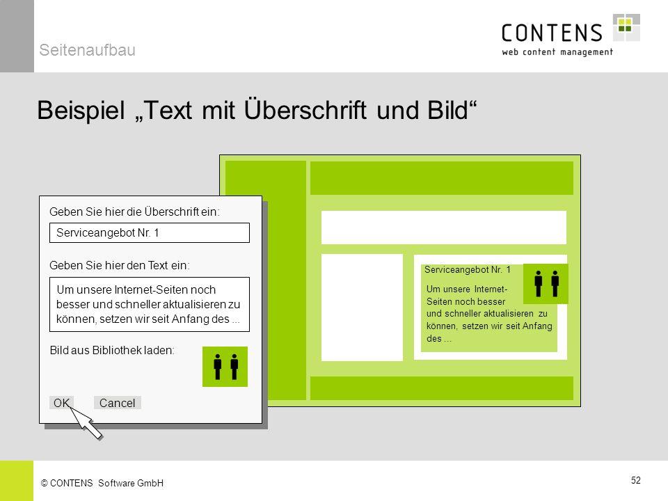 """Beispiel """"Text mit Überschrift und Bild"""