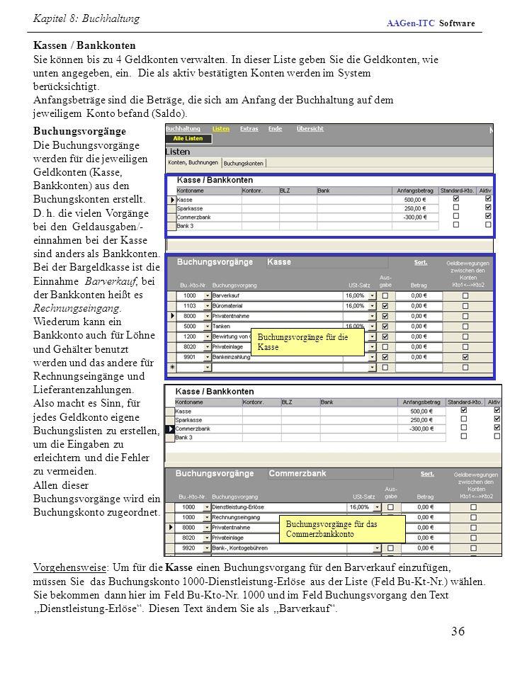 Kapitel 8: Buchhaltung AAGen-ITC Software.