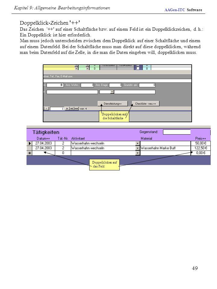 Kapitel 9: Allgemeine Bearbeitungsinformationen