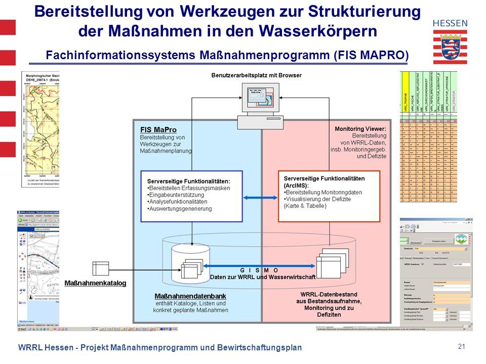 Fachinformationssystems Maßnahmenprogramm (FIS MAPRO)