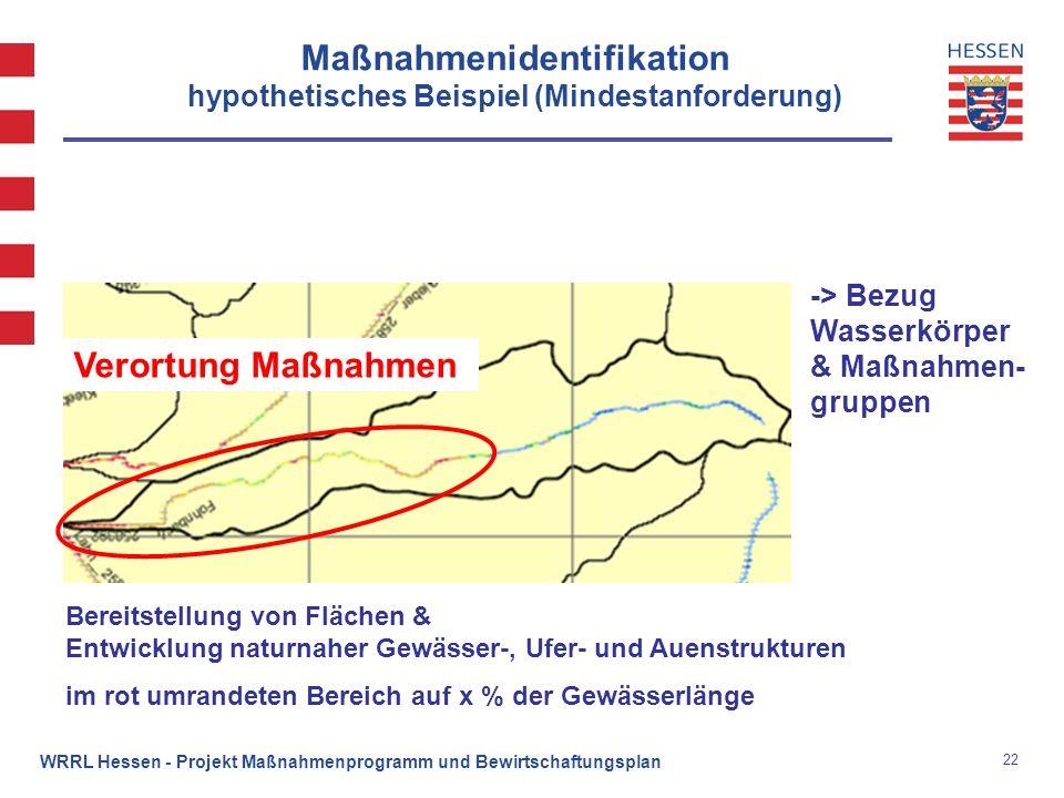 Maßnahmenidentifikation hypothetisches Beispiel (Mindestanforderung)