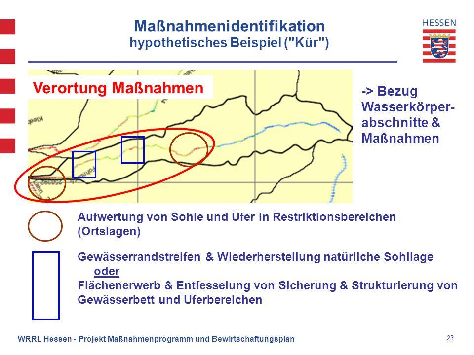 Maßnahmenidentifikation hypothetisches Beispiel ( Kür )