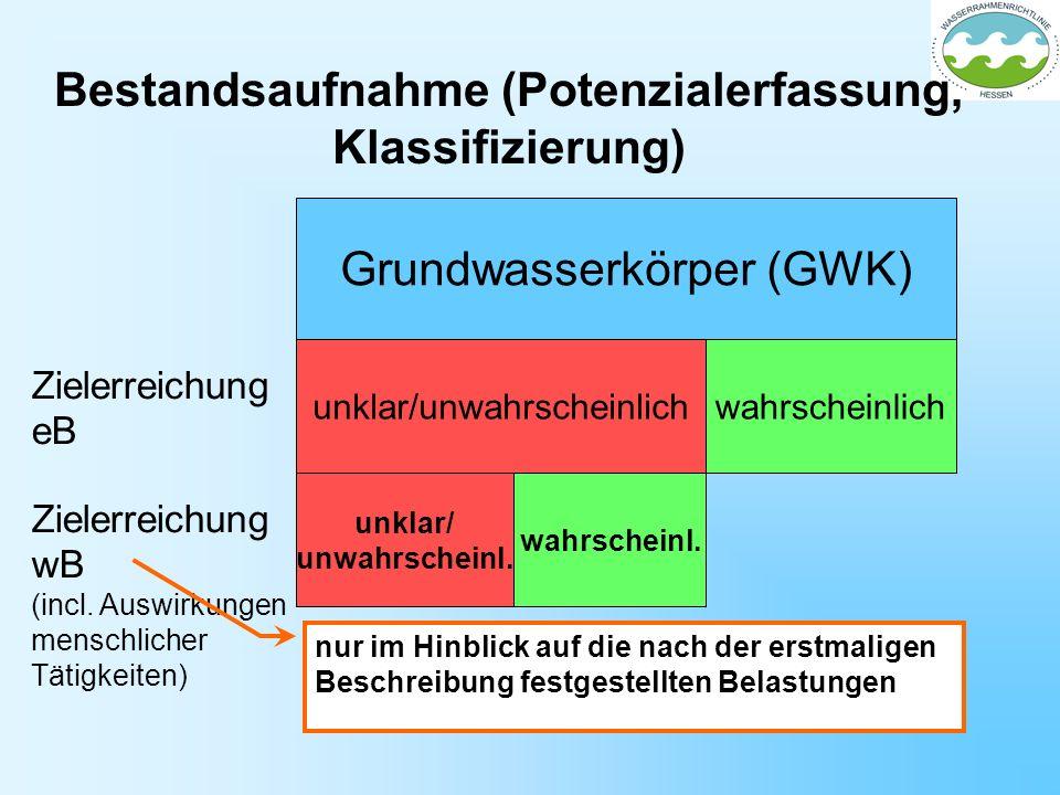 Bestandsaufnahme (Potenzialerfassung, Klassifizierung)