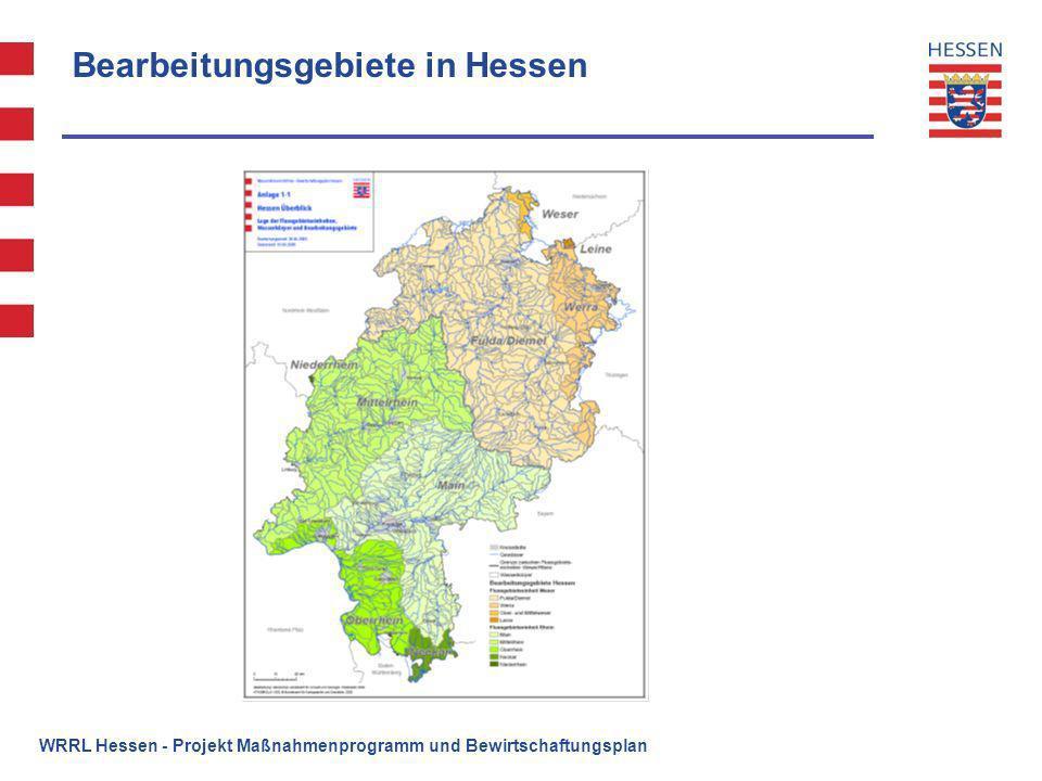 Bearbeitungsgebiete in Hessen