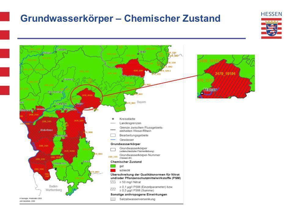 Grundwasserkörper – Chemischer Zustand