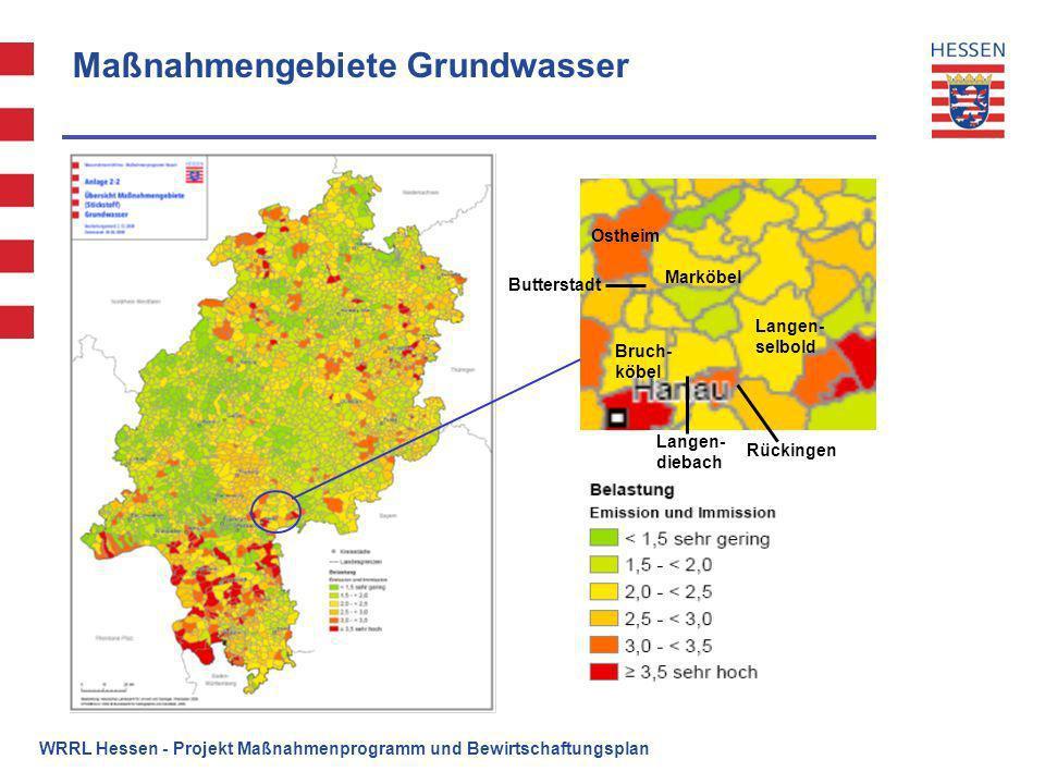 Maßnahmengebiete Grundwasser
