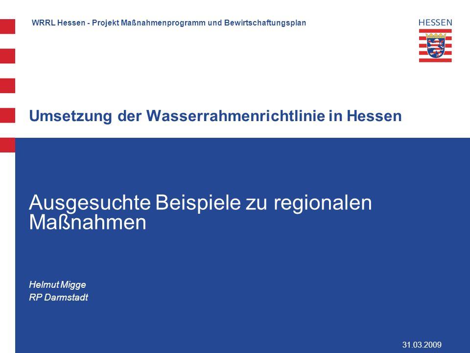 Umsetzung der Wasserrahmenrichtlinie in Hessen
