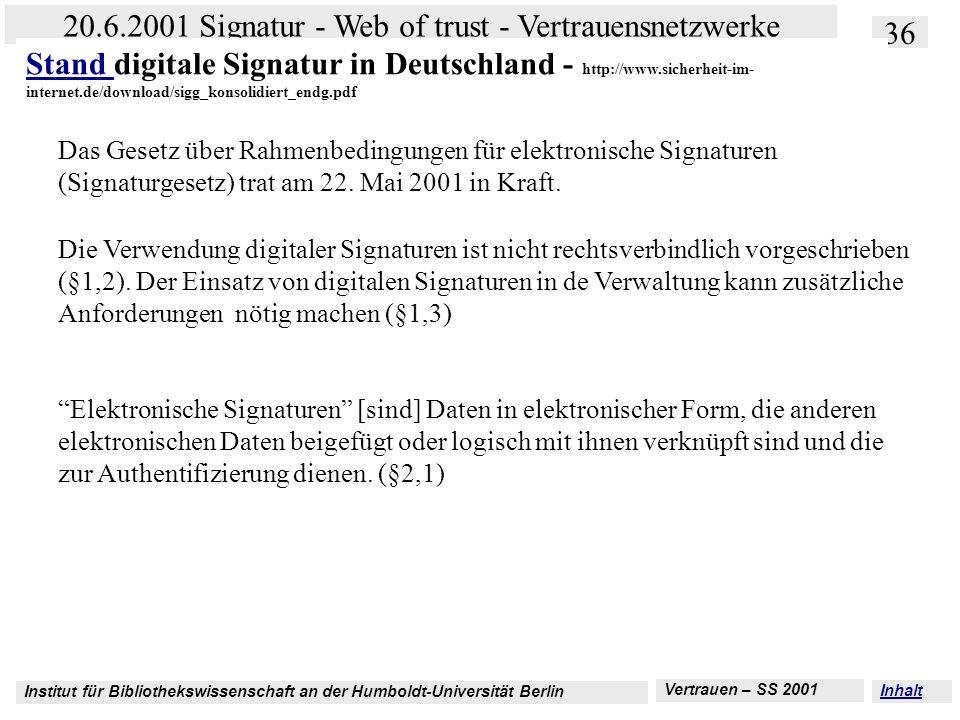 Stand digitale Signatur in Deutschland - http://www