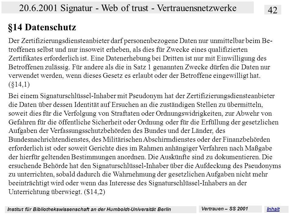 §14 Datenschutz