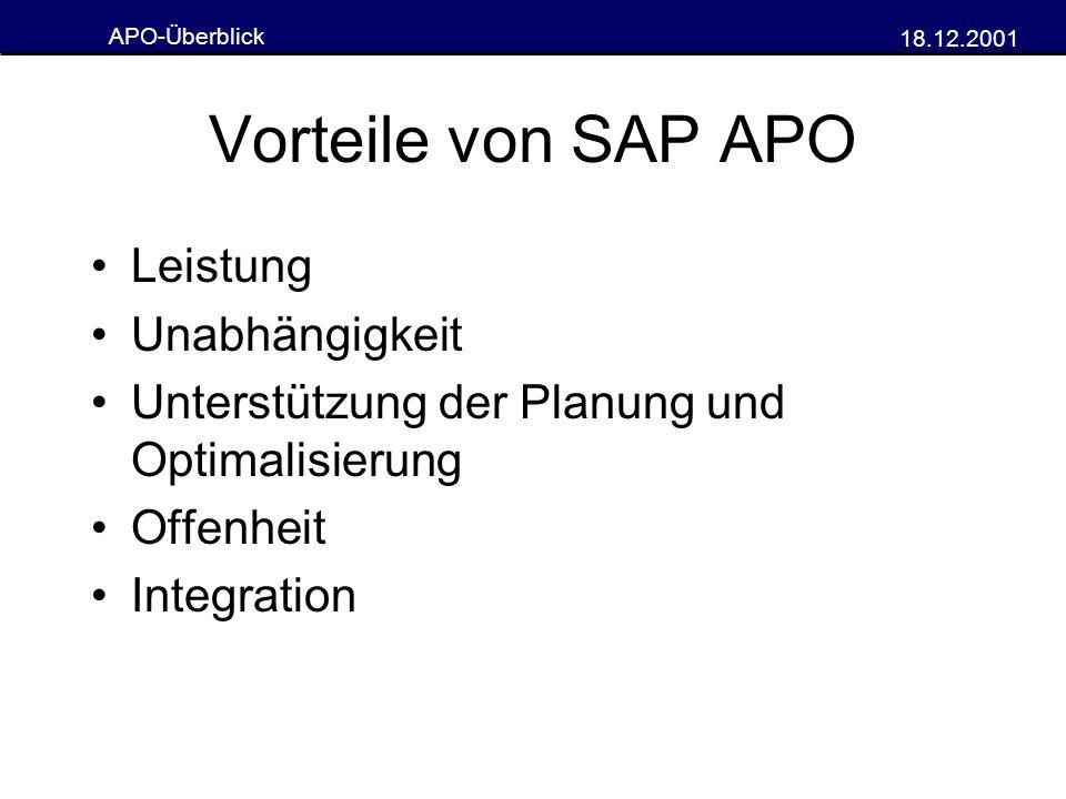 Vorteile von SAP APO Leistung Unabhängigkeit