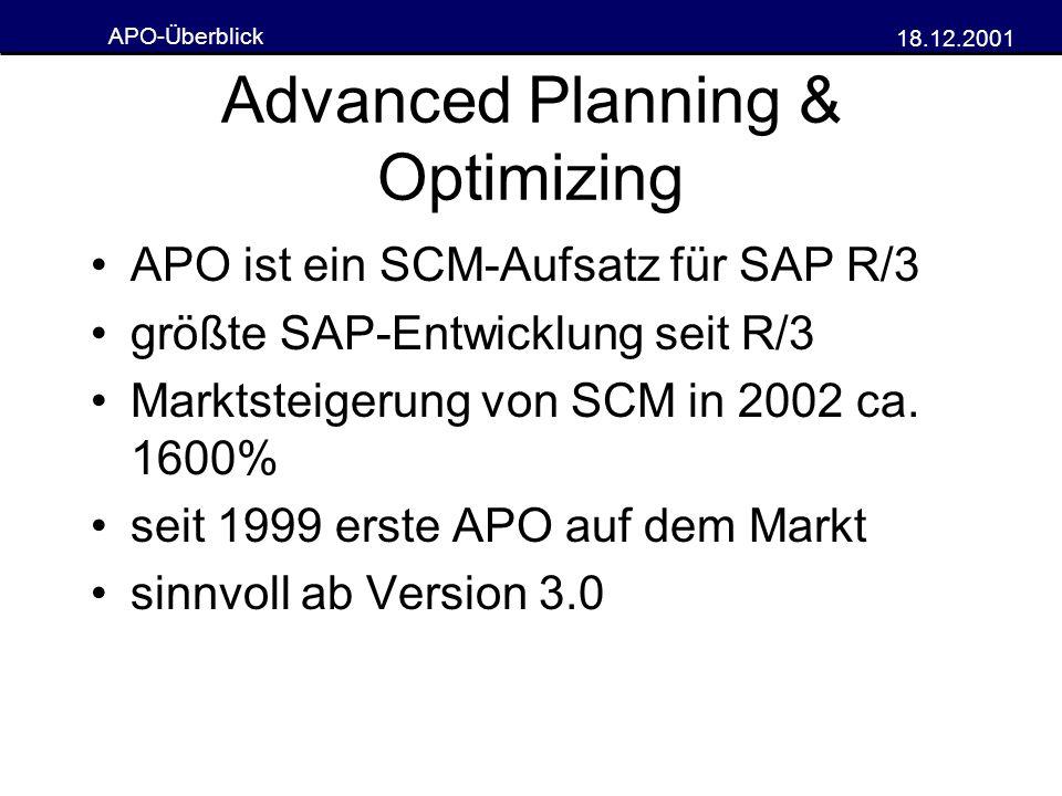 Advanced Planning & Optimizing