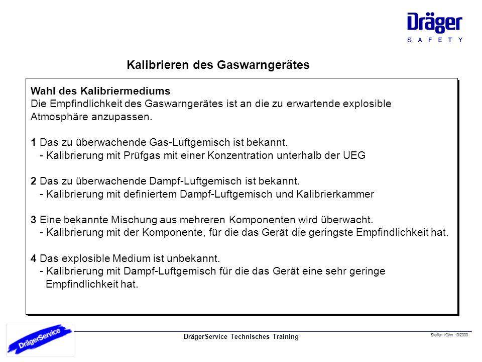 Kalibriermedium Kalibrieren des Gaswarngerätes