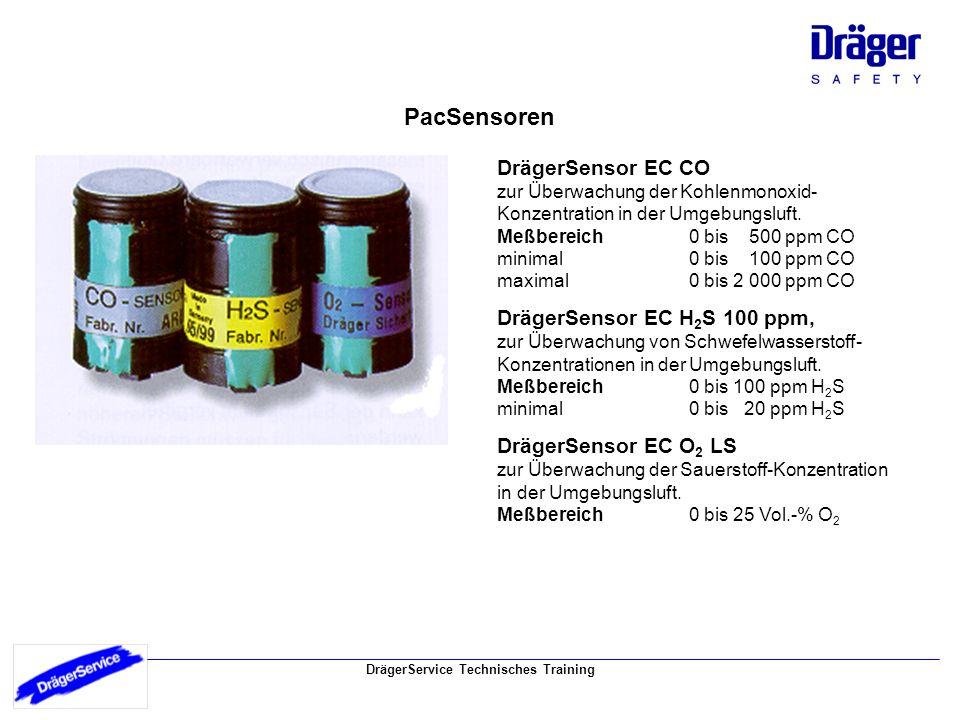 PacSensoren DrägerSensor EC CO DrägerSensor EC H2S 100 ppm,