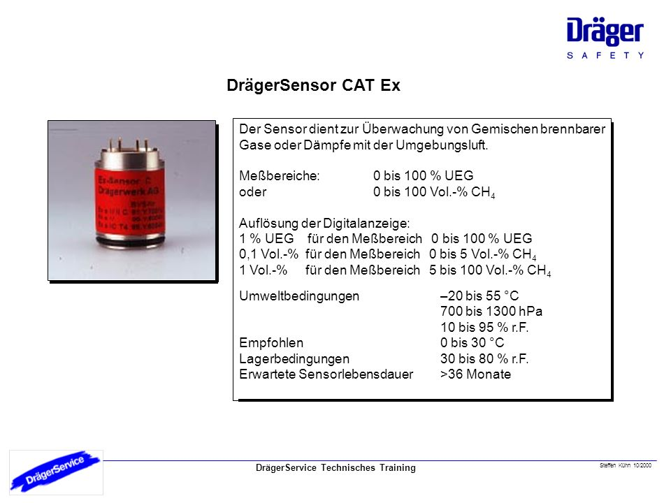 CatEx Sensor DrägerSensor CAT Ex