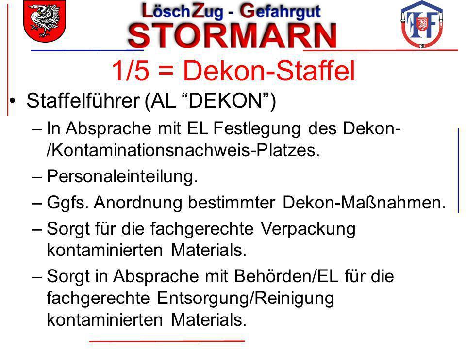 1/5 = Dekon-Staffel Staffelführer (AL DEKON )