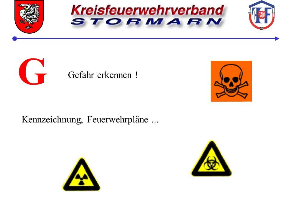 G Gefahr erkennen ! Kennzeichnung, Feuerwehrpläne ...