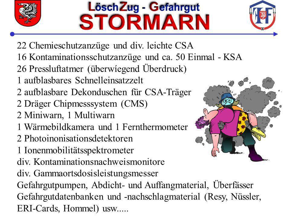 22 Chemieschutzanzüge und div. leichte CSA