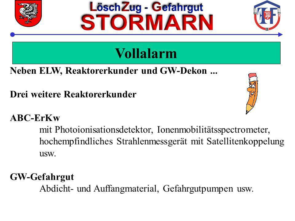 Vollalarm Neben ELW, Reaktorerkunder und GW-Dekon ...