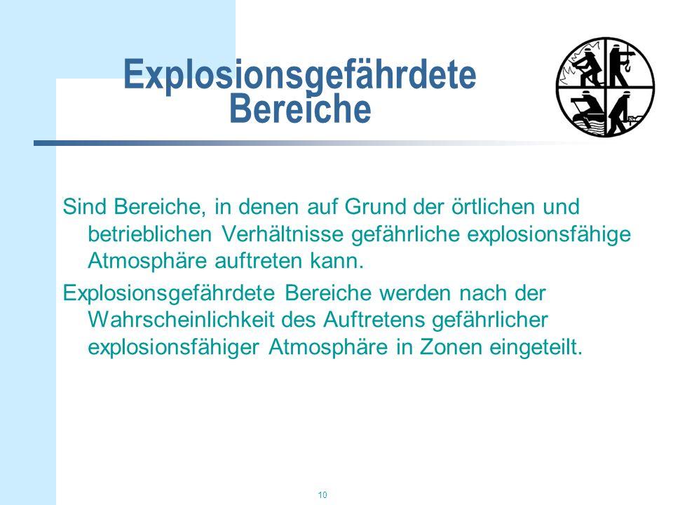 Explosionsgefährdete Bereiche