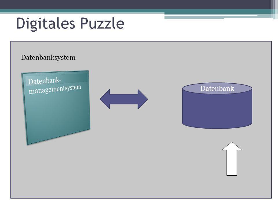 Digitales Puzzle Datenbanksystem Datenbank-managementsystem Datenbank