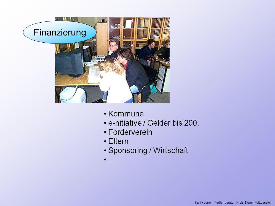Finanzierung Wer Wie Kommune e-nitiative / Gelder bis 200.